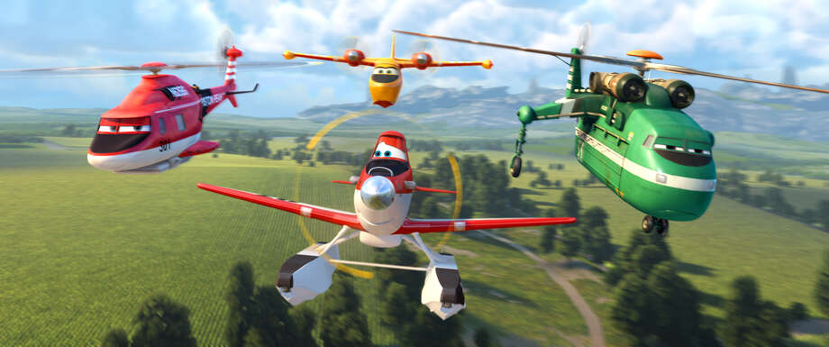 """Blade Ranger, from left, Dipper, Dusty and Windlifter are ready for action in """"Planes: Fire & Rescue."""" Photo: Disney / ©2014 Disney Enterprises, Inc. All Rights Reserved."""