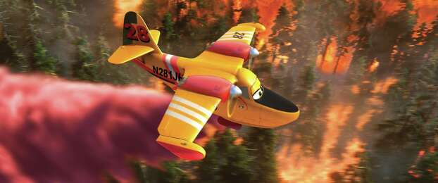 """Planes: Fire & Rescue""IMDb: 6.3/10Rotten Tomatoes: 40 percentReview by Peter Hartlaub: High-flying 'Planes' still has low pointsThree starsFour movies and several more short films into the world of ""Cars"" and ""Planes,"" cynical adults will continue to ask hard questions. Photo: PLANES: FIRE & RESCUE / ©2014 Disney Enterprises, Inc. All Rights Reserved."