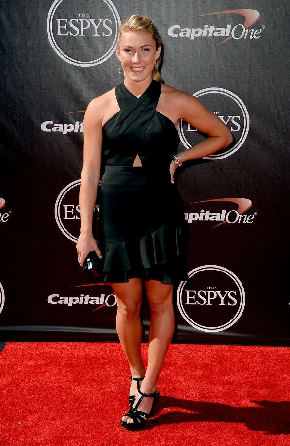Alpine skier Mikaela Shiffrin arrives at the ESPY Awards at the Nokia Theatre on Wednesday, July 16, 2014, in Los Angeles. (Photo by Jordan Strauss/Invision/AP) Photo: Jordan Strauss, Associated Press