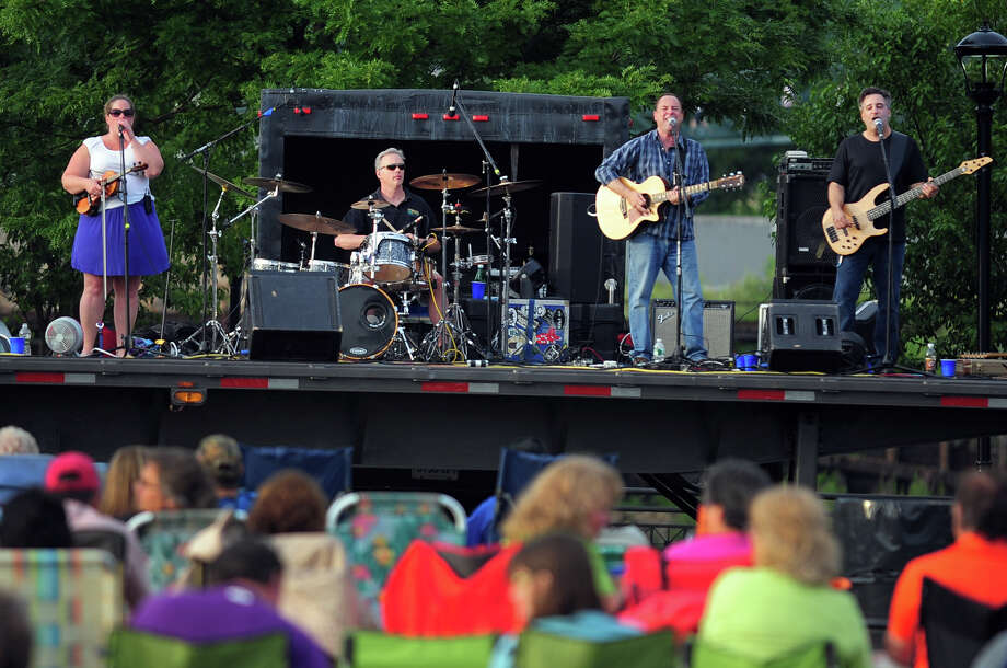 "The Highland Rovers perform during Shelton's ""Music Under the Stars"" concert series held at Riverwalk Park in Shelton, Conn. on Wednesday July 16, 2014. The next concert will be Gunsmoke on July 23rd from 7-9 p.m. Photo: Christian Abraham / Connecticut Post"