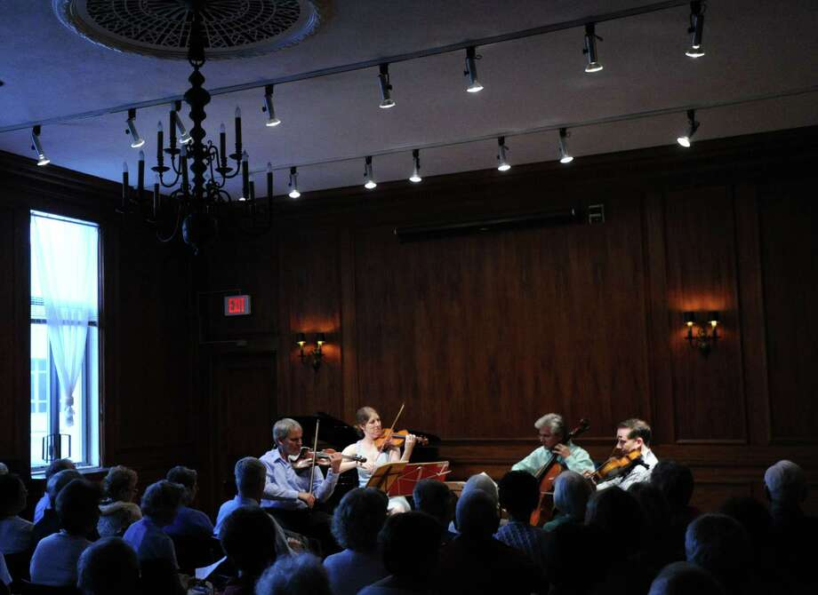 "The Chamber Players of the Greenwich Symphony Orchestra during their ""Sounds for a Summer Night"" performance at the Greenwich Arts Council at 299 Greenwich Ave., in Greenwich, Conn., Wednesday night, July 16, 2014. Photo: Bob Luckey / Greenwich Time"