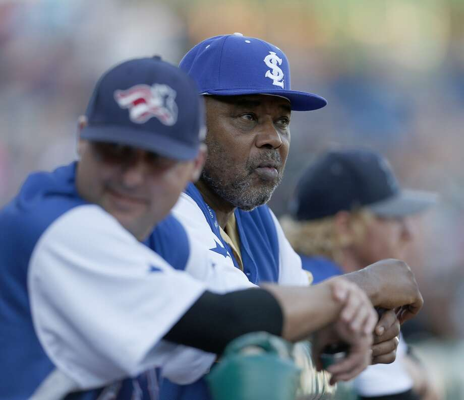 Honorary manager for the Atlantic All-Star team Bob Watson watches the game from the dugout during the Atlantic League All-Star game at Constellation Field, Wednesday, July 16, 2014, in Sugar Land. ( Karen Warren / Houston Chronicle  ) Photo: Karen Warren, Houston Chronicle
