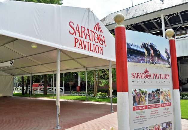 The all-new Saratoga Pavilion at Saratoga Race Course Wednesday, July 16, 2014, in Saratoga Springs, N.Y.  (John Carl D'Annibale / Times Union) Photo: John Carl D'Annibale / 00027812A