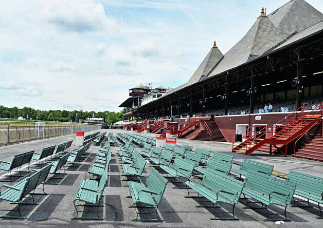 Saratoga Race Course stands are ready for a new racing season Wednesday, July 16, 2014, in Saratoga Springs, N.Y.  (John Carl D'Annibale / Times Union) Photo: John Carl D'Annibale / 00027812A