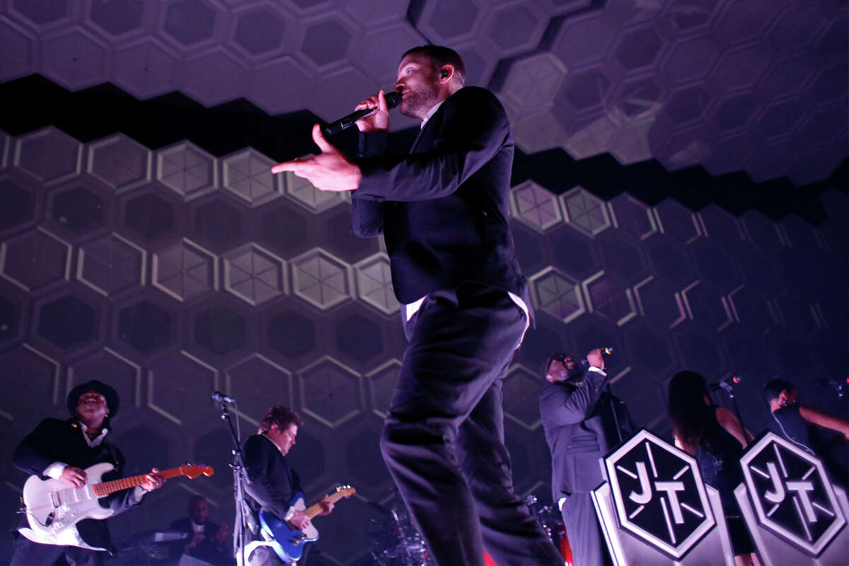 Justin Timberlake sings during a concert at the Times Union Center on Wednesday, July 16, 2014 in Albany, N.Y. (Tom Brenner/ Special to the Times Union)