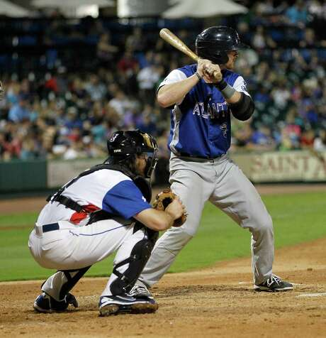 In his new role as a catcher with the Bridgeport Bluefish, J.R. Towles made the Atlantic League All-Star team and walked in his only plate appearance in Wednesday night's game at Constellation Field. Photo: Karen Warren, Staff / © 2014 Houston Chronicle
