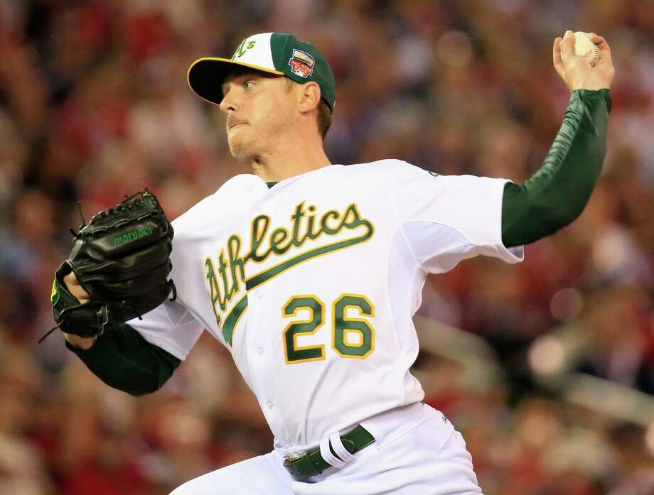 Left-hander Scott Kazmir, one of six players to represent the Athletics at Tuesday's All-Star game, is a big reason Oakland has the best record in baseball. He is 11-3 with a 2.38 ERA. Photo: Rob Carr / Getty Images / 2014 Getty Images
