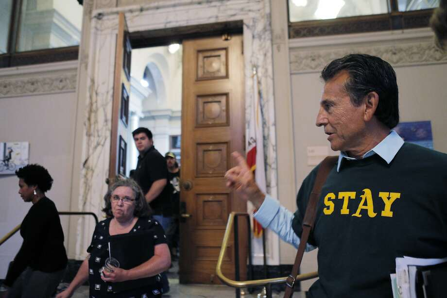Noel Gallo voiced his dissatisfaction to the council's vote following Wednesday's council meeting. The Oakland City Council voted to revise the proposed lease agreement with the Oakland Athletics on Wednesday night, July 16, 2014, during a special session in Oakland, Calif. The revised lease must be approved by the Coliseum Authority and the Athletics now. Photo: Carlos Avila Gonzalez, The Chronicle