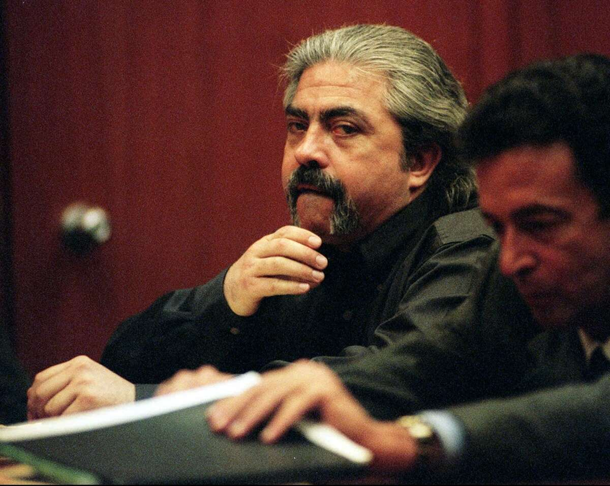 Richard Allen Davis, seen in court in 1996, kidnapped 12-year-old Polly Klaas from her bedroom at knife-point during a slumber party at her Petaluma home in October 1993. Later that night, Sonoma County sheriff's deputies, unaware Davis was a parole violator or that police had reported the kidnapping, let him go after finding his car stuck in a ditch on a private road near Petaluma. In a confession to police, Davis said he had untied Polly and put her on an embankment a short distance away before the deputies arrived and freed his car. After they let him go, Davis said, he concluded he had to kill the girl to avoid being sent back to prison, and strangled her with a knotted cloth.