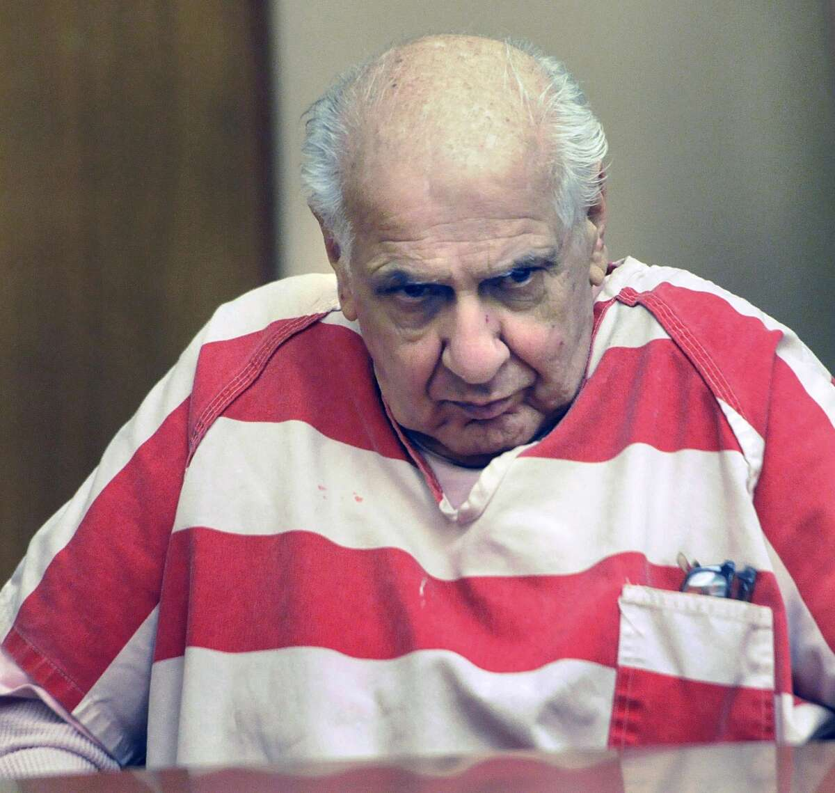 FILE - Serial killer Joseph Naso was sentenced to death for strangling four Northern California women who were raped and whose bodies were discarded along rural roads in the late 1970s and early 1990s. Naso was dubbed the Alphabet Killer because of a pattern among the victims: Their first and last names started with the same letter. Naso was convicted of killing Roxene Roggasch, 18, in 1977; Carmen Colon, 22, in 1978; Pamela Parsons, 38, in 1993; and Tracy Tafoya, 31, in 1994.