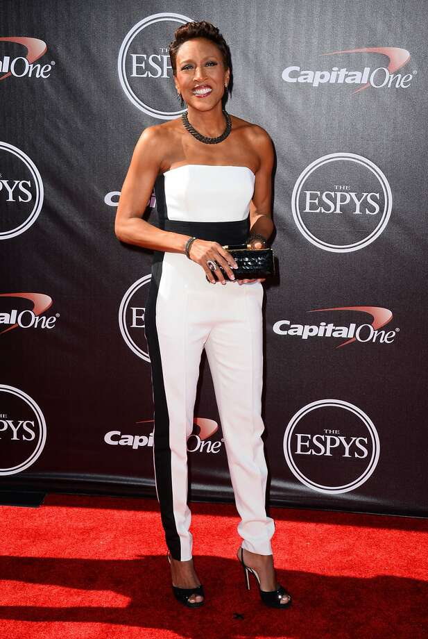 TV personality Robin Roberts arrives at the ESPY Awards at the Nokia Theatre on Wednesday, July 16, 2014, in Los Angeles. (Photo by Jordan Strauss/Invision/AP) Photo: Jordan Strauss, Associated Press