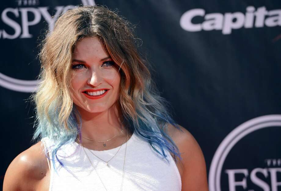 Skier Julia Mancuso arrives at the ESPY Awards at the Nokia Theatre on Wednesday, July 16, 2014, in Los Angeles. (Photo by Jordan Strauss/Invision/AP) Photo: Jordan Strauss, Associated Press