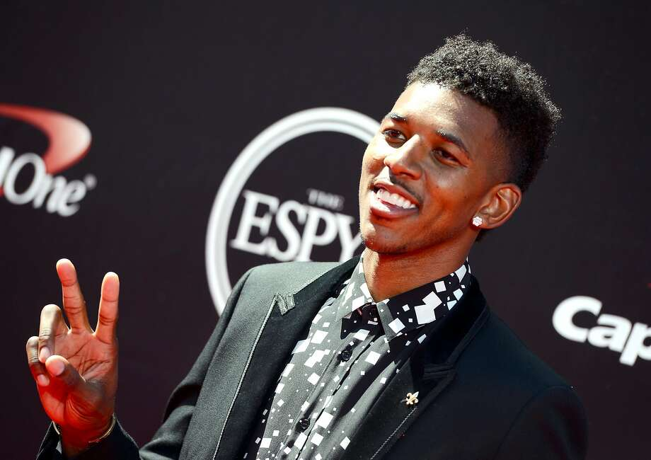 Los Angeles Lakers' Nick Young arrives at the ESPY Awards at the Nokia Theatre on Wednesday, July 16, 2014, in Los Angeles. (Photo by Jordan Strauss/Invision/AP) Photo: Jordan Strauss, Associated Press