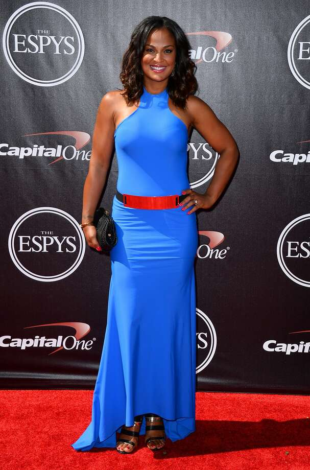 Former boxer Laila Ali arrives at the ESPY Awards at the Nokia Theatre on Wednesday, July 16, 2014, in Los Angeles. (Photo by Jordan Strauss/Invision/AP) Photo: Jordan Strauss, Associated Press