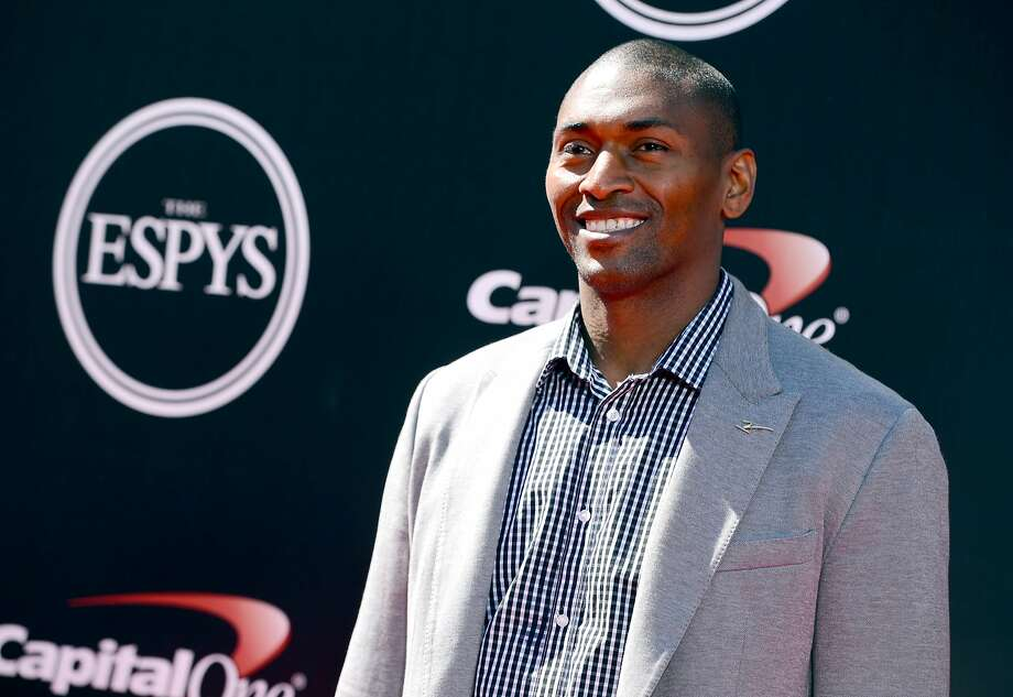 Former NBA player Metta World Peace arrives at the ESPY Awards at the Nokia Theatre on Wednesday, July 16, 2014, in Los Angeles. (Photo by Jordan Strauss/Invision/AP) Photo: Jordan Strauss, Associated Press