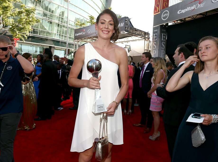 Basketball player Breanna Stewart, winner of Best Female College Athlete, attends The 2014 ESPY Awards at Nokia Theatre L.A. Live on July 16, 2014 in Los Angeles, California.  (Photo by Christopher Polk/Getty Images For ESPYS) Photo: Christopher Polk, Getty Images For ESPYS
