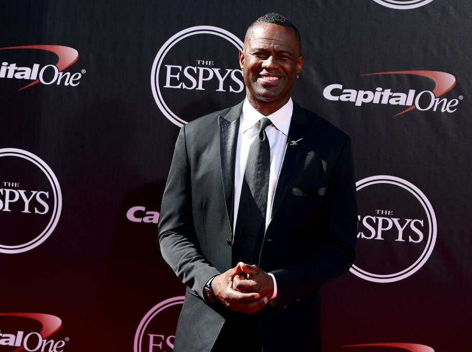 Singer Brian McKnight arrives at the ESPY Awards at the Nokia Theatre on Wednesday, July 16, 2014, in Los Angeles. (Photo by Jordan Strauss/Invision/AP) Photo: Jordan Strauss, Associated Press