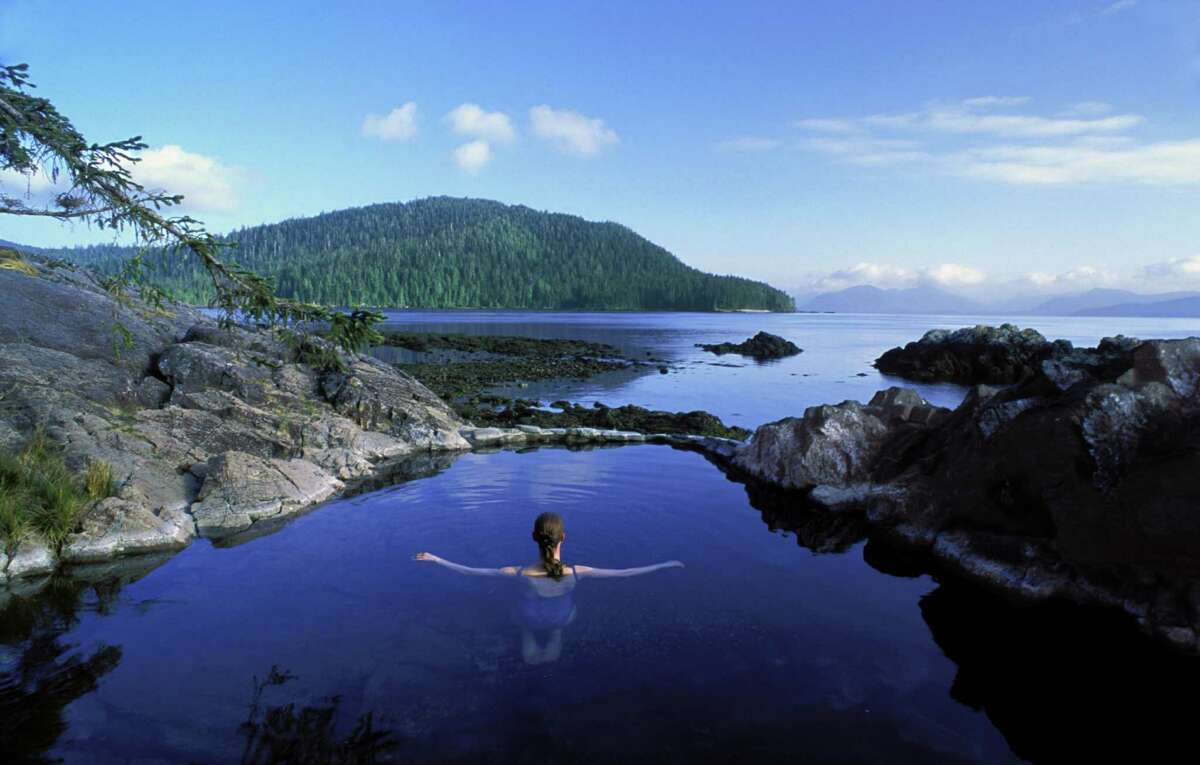 Where exactly is Queen Charlotte Lodge? About 500 miles northwest of Vancouver, inthe Haida Gwaii islands off British Columbia's north coast. Thearchipelago, once named the Queen Charlotte Islands, are known for its rugged beauty, pictured.