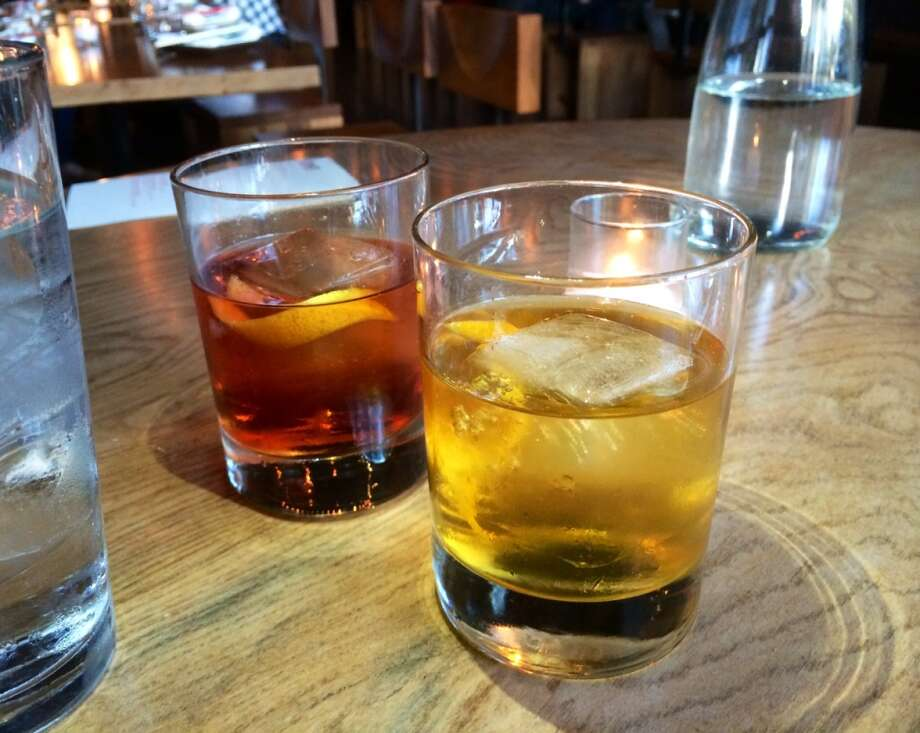 Rusty Nail ($11) and Perfect Manhattan ($12), two of the excellent cocktails