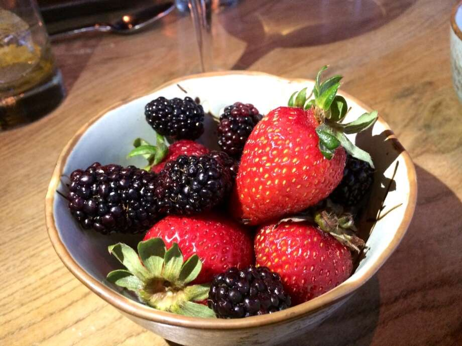 Fresh berries, the only other dessert on the Ume menu ($5)