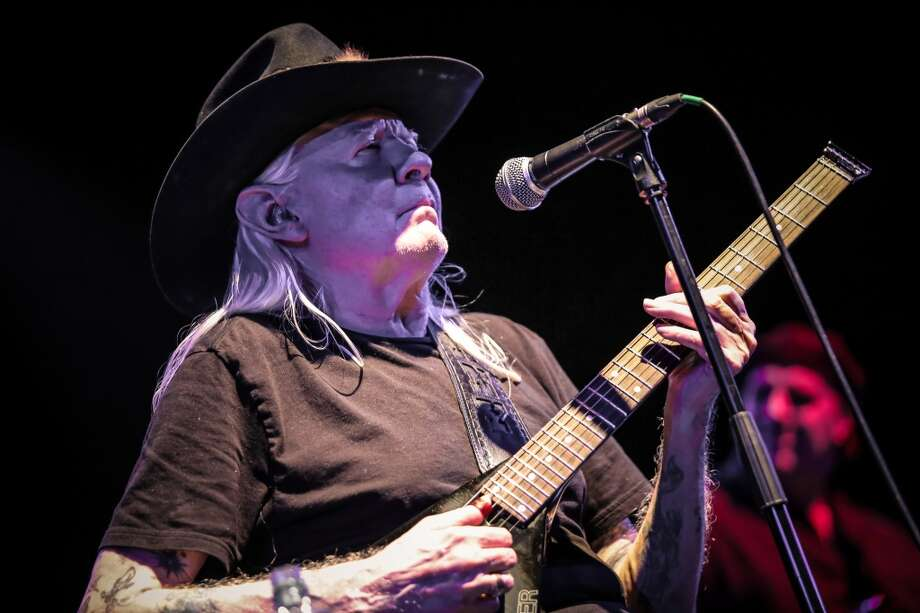 Johnny Winter performs on stage at O2 Shepherd's Bush Empire on April 14, 2013 in London.  Photo: Redferns Via Getty Images