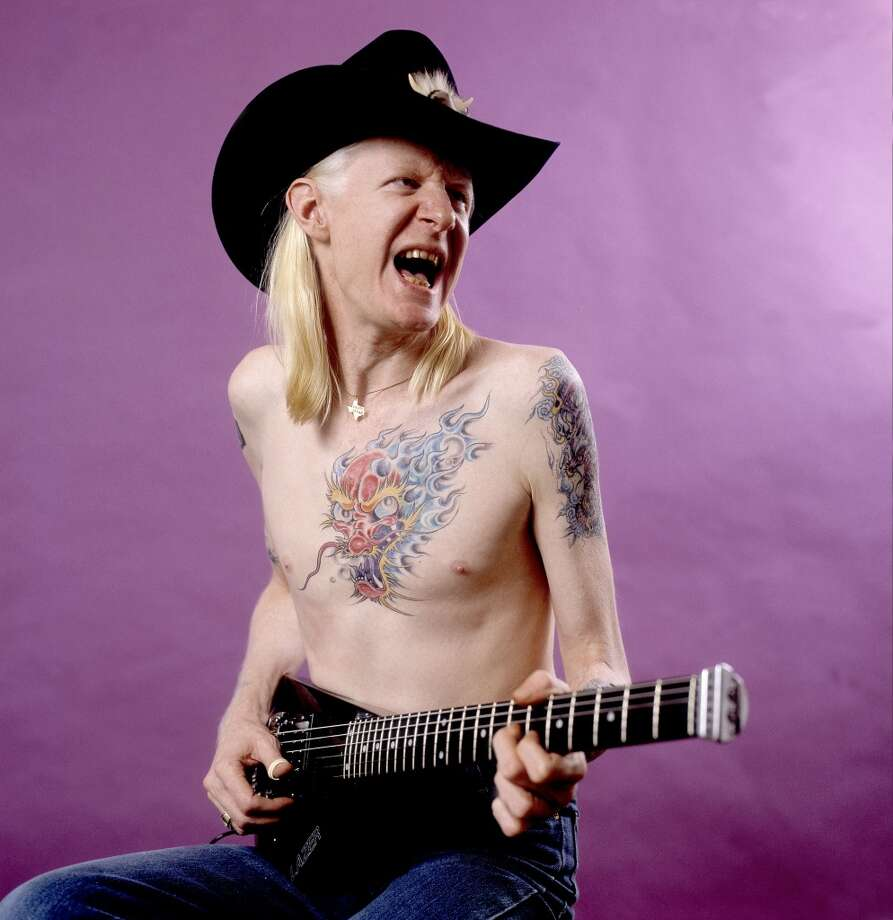 Johnny Winter in Chicago, 1984. Photo: WireImage