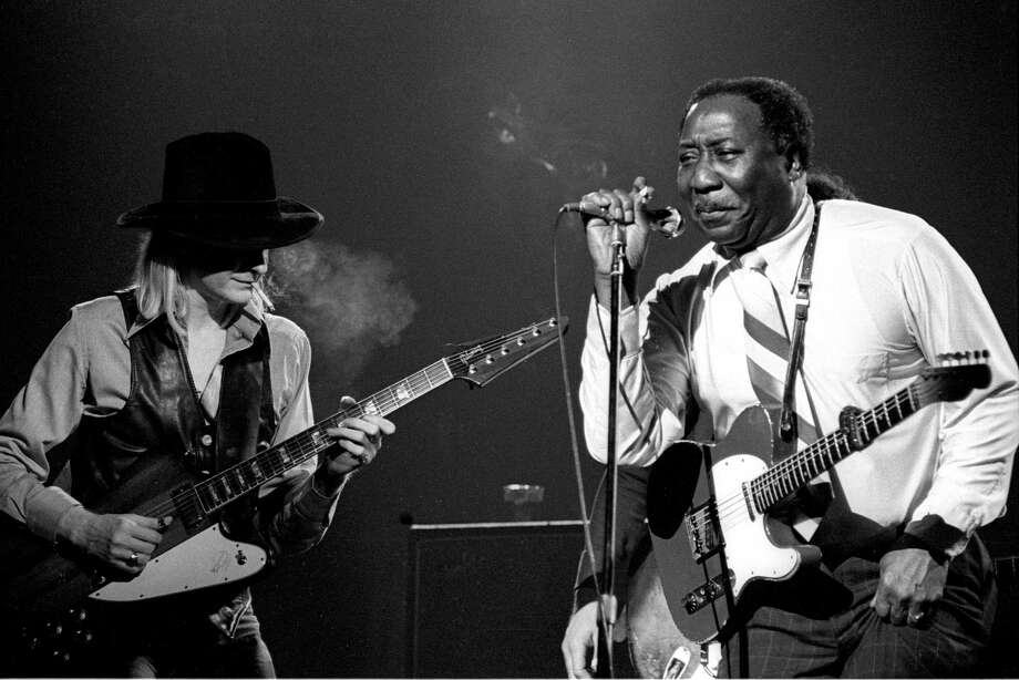 Johnny Winter and Muddy Waters performing on stage. Photo: Richard E. Aaron, File Photos / Redferns