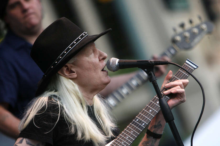 Johnny Winter plays during the Canton Blues Festival 2009 in downtown Canton, Ohio. The Texas blues icon rose to fame in the late '60s and '70s. Photo: Bob Rossiter, STR / THE REPOSITORY