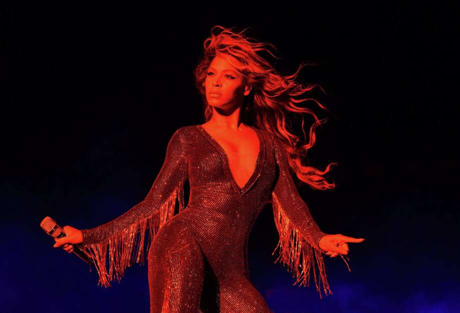 Beyonce, shown during the On The Run tour  on July 7 in Baltimore, is the leading nominee for the MTV Video Music Awards.