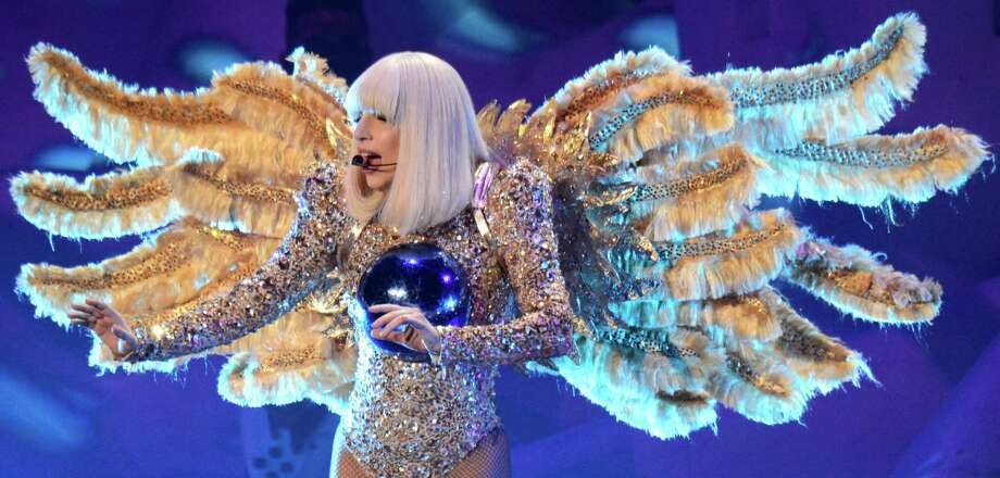 Lady Gaga performed at the Toyota Center on Tuesday, and per the usual there was no lack of eclectic costumes. Her bizarre outfits never fail to make a lasting impression. We have taken the time to compile some of her craziest wardrobe choices that are worth remembering.Bowling AngelThey say every time she gets a strike another angel gets its wings.   Photo: Kevin Mazur / WireImage / 2014 Kevin Mazur