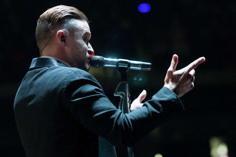 Justin Timberlake performs at the Times Union Center on Wednesday, July 16, 2014 in Albany, N.Y.  (Tom Brenner/ Special to the Times Union) Photo: Tom Brenner / ©Tom Brenner/ Albany Times Union