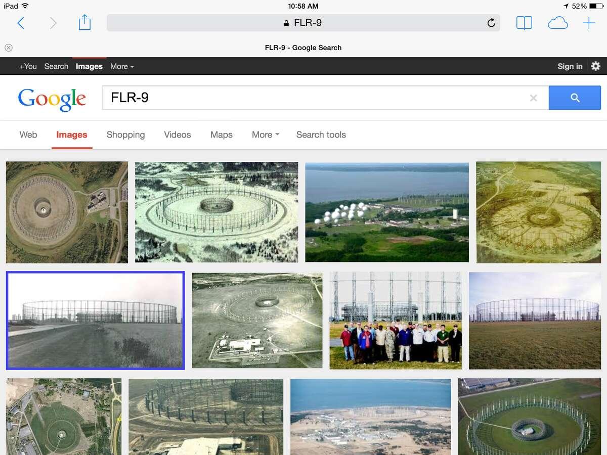 "Google image shot for ""FLR-9,"" a Cold War-era spy antenna."