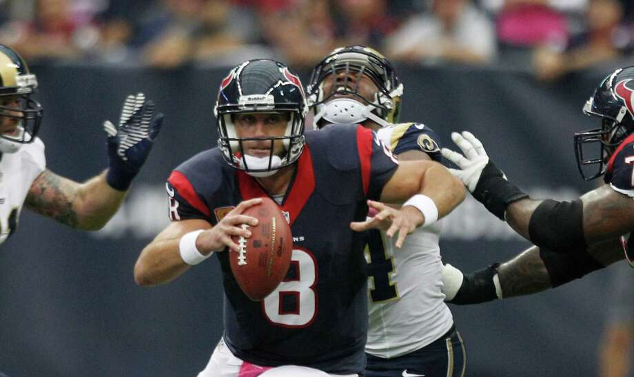 "Matt Schaub Texas Children's Hospital Former Houston Texan Matt Schaub was traded to the Oakland Raiders, but he's not forgotten here. He has pledged $1 million to expand the emergency center at Texas Children's Hospital West Campus and has bought toys and play equipment for the hospital's child life playroom. ""The children inspire me more than I inspire them,""€ Schaub said recently on his foundation's website, GR8 Hope. ""€œThey are in some of the most dire circumstances, and to see them so joyful and hopeful and positive brings tears to your eyes. When you walk out of those hospital rooms, you understand there is so much more to life than football.""€ Photo: Brett Coomer, Staff / © 2013  Houston Chronicle"