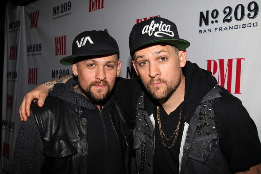 Recording artists Benjamin (Benji) Madden (L) and Joel Madden