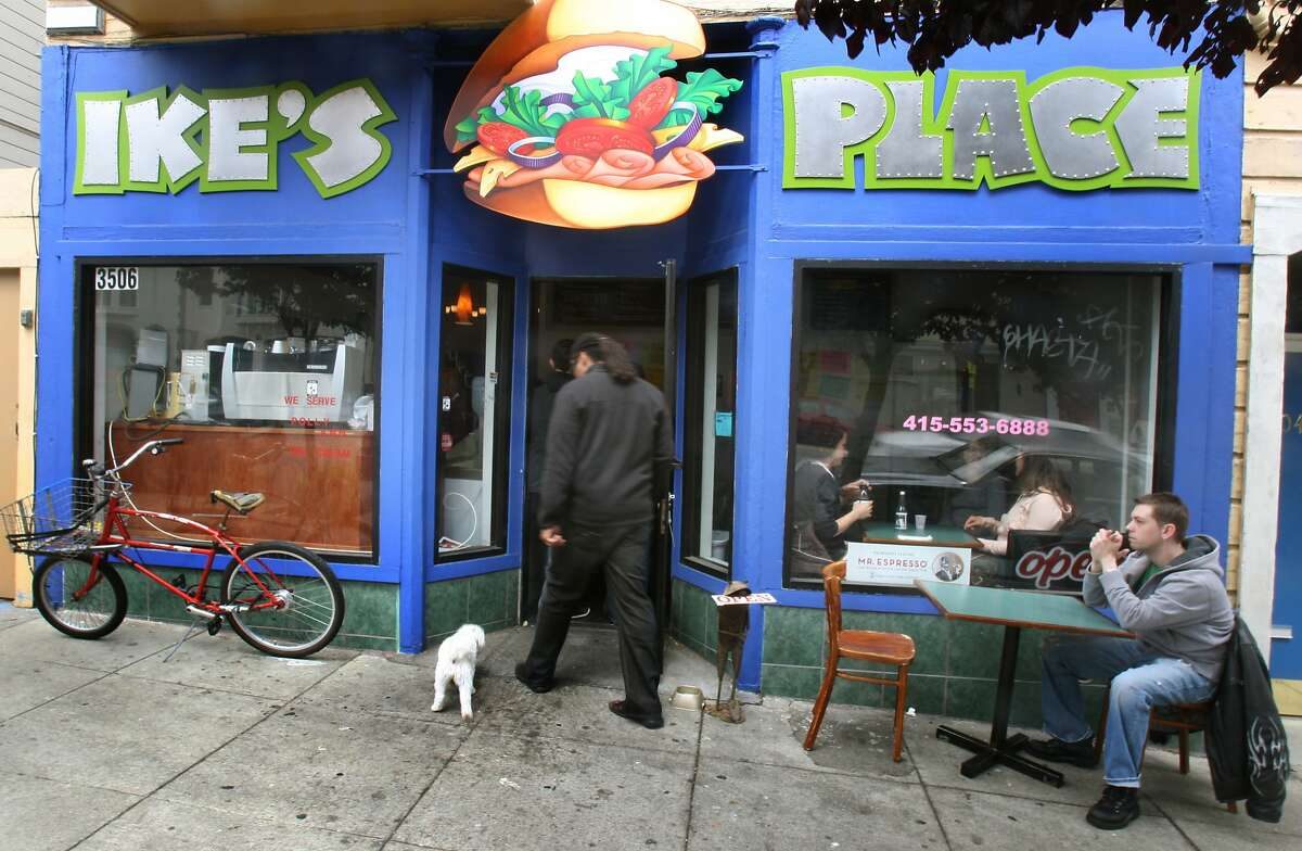 Ike's Place at 3506 16th St, in San Francisco a popular sandwich shop that has both inside and sidewalk seating. Photographed in San Francisco Calif, Tuesday April 22, 2008.