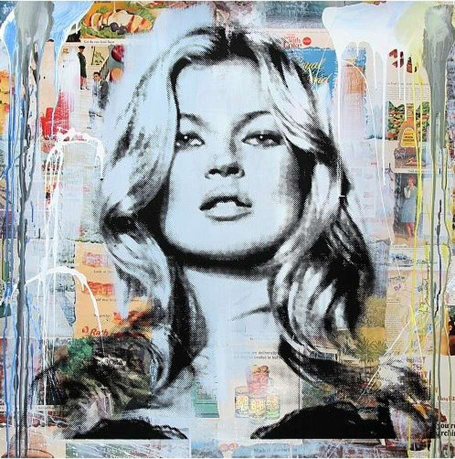 Works by Paris-born street artist Mr. Brainwash will be on view in an exhibition at the Samuel Owen Gallery in Greenwich. Photo: Gargan, Scott