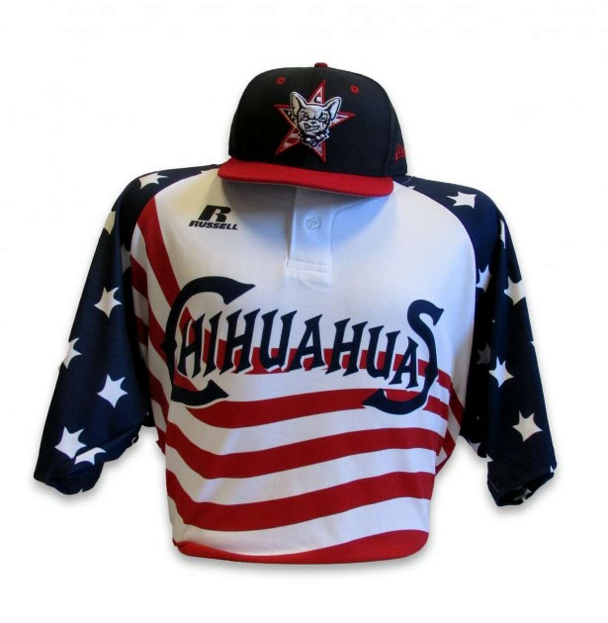 This is the jersey the Chihuahuas used for their home games on July 2 and July 3 against the Albuquerque Isotopes.