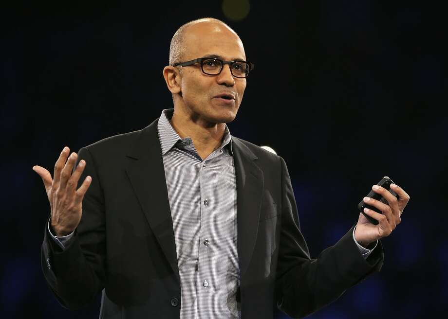 Satya Nadella had previously outlined plans for a leaner company with a greater focus on cloud and mobile computing. Photo: Alex Wong, Getty Images