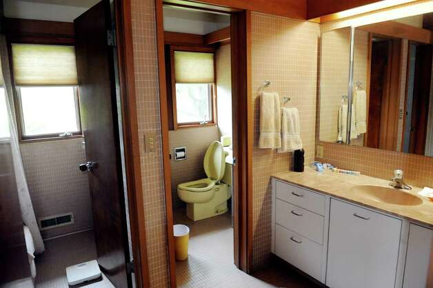 The bathroom, featuring an open ceiling, has separate rooms for a toilet and shower in the home of Albany architect Harris Sanders on Wednesday July 2, 2014, in Albany, N.Y. (Cindy Schultz / Times Union) Photo: Cindy Schultz / 00027583A