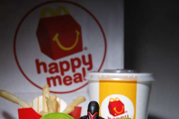 A McDonald's Happy Meal, purchased  on Tuesday, Nov. 29, 2011 in San Francisco, Calif., came with a free toy