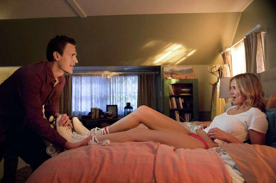 "This image released by Sony Pictures shows Cameron Diaz, right, and Jason Segel in a scene from ""Sex Tape."" (AP Photo/Sony Pictures, Claire Folger)  ORG XMIT: NYET532 Photo: Claire Folger / Columbia Pictures - Sony"