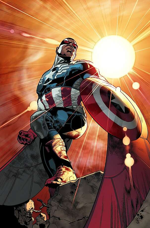 "Sam ""The Falcon"" Wilson will take over the role of superhero Captain America in a new series. Photo: Associated Press"