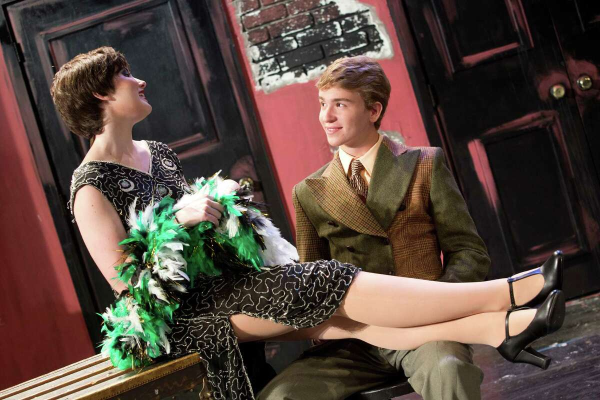 """Claire Smith and Jack Baylis play the leads, Sally Bowles and Cliff, in Staples Players' production of """"Cabaret"""" from July 24-26."""