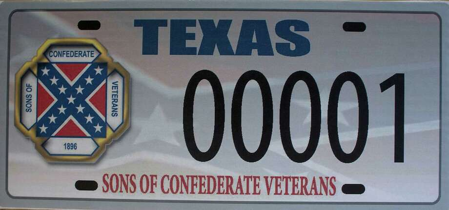 Image of the Sons of Confederate Veterans license plate Photo: Johnny Hanson, Staff / © 2014  Houston Chronicle
