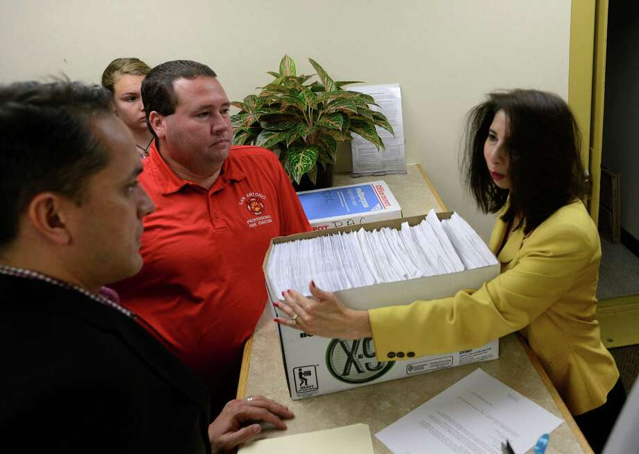 Greg Brockhouse (left) and Stephen Moody, opponents of VIA Metropolitan 