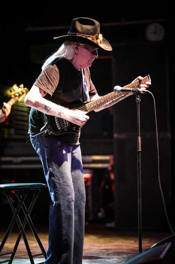 LONDON, UNITED KINGDOM - APRIL 14: Johnny Winter performs on stage at O2 Shepherd's Bush Empire on April 14, 2013 in London, England. (Photo by Christie Goodwin/Redferns via Getty Images) Photo: Redferns Via Getty Images