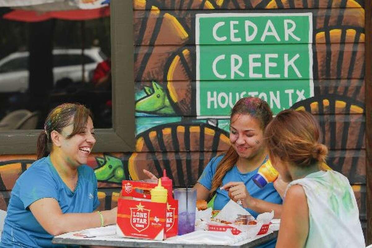 Cedar Creek Cafe Bar & GrillAddress: 1034 W 20th St. Phone:713-808-9623 Website: cedarcreekcafebargrill.com