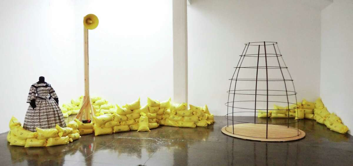 """Margaret Meehan's """"Decoration Day"""" installation at Artpace deals with women's history in combat in America's wars."""