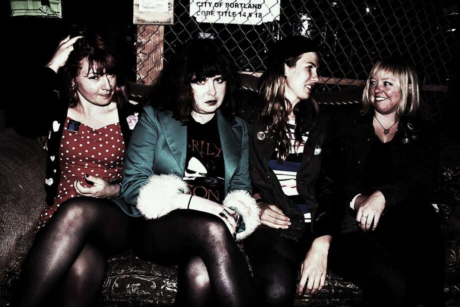 The punk rock band Quaaludes, featuring Susie Leni (left), Aimee Belden, Morgan Liggera and Courtney Dragge, plays Friday at Hemlock Tavern in San Francisco. Photo: Jeremy Valencia