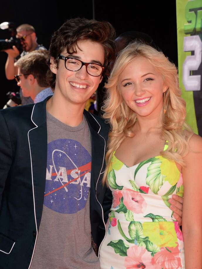 Actors Joey Bragg, left, and Audrey Whitby attend Nickelodeon Kids' Choice Sports Awards 2014 at UCLA's Pauley Pavilion on July 17, 2014 in Los Angeles, California. Photo: Jason Merritt, Getty Images / 2014 Getty Images